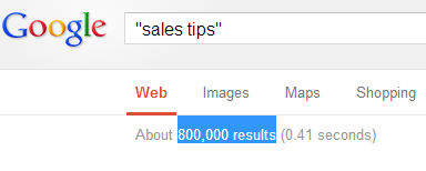 Sales Tips Search